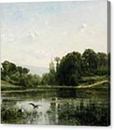 The Pond At Gylieu Canvas Print