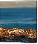 The Population Of Copacabana On The Shores Of Lake Titicaca. Republic Of Bolivia. Canvas Print