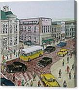 The Portsmouth Ohio Post Office On The Esplanade 1948 Canvas Print