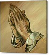 The Praying Hands Canvas Print
