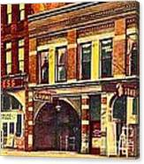 The Princess And Grand And Star Theatres On Amusement Row State Street In Erie Pa In 1910 Canvas Print