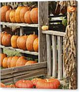 The Pumpkin Shack At Isom's Orchard Canvas Print