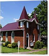 The Purple Church Canvas Print