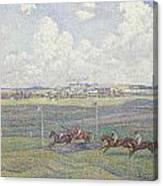 The Racecourse At Boulogne-sur-mer Canvas Print