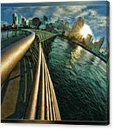 The Railing To The City Canvas Print