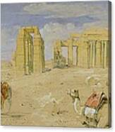 The Ramesseum At Thebes Canvas Print