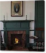 The Rankin Home Fireplace Canvas Print