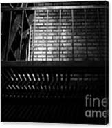 The Rear Window - Bw - 7d17463 Canvas Print