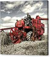 The Red Combine Canvas Print