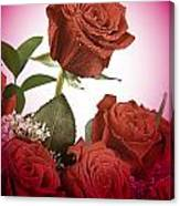 The Red Rose Center Of Love Canvas Print
