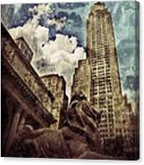 The Resting Lion - Nyc Canvas Print