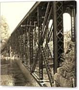 The Retired Railroad Bridge Canvas Print