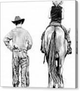 The Riding Lesson Canvas Print