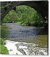 The River Dove Beneath Coldwall Bridge Canvas Print