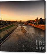 The River Exe At Tiverton Canvas Print