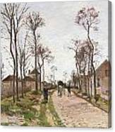 The Road To Saint Cyr At Louveciennes Canvas Print