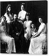 The Romanovs, Russian Tsar With Family Canvas Print