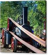 The Rumley Powering The Saw Canvas Print