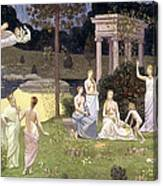 The Sacred Wood Cherished By The Arts And The Muses Canvas Print