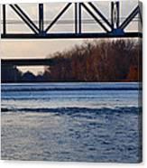 The Schuylkill River At Bridgeport Canvas Print