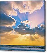 The Sea In The Sunset Canvas Print