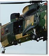 The Sea King Helicopter In Use Canvas Print