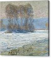 The Seine At Bennecourt Canvas Print