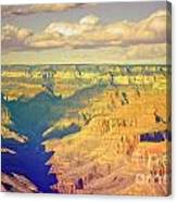 The Shadows In The Canyon Canvas Print