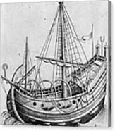 The Ship, C1470 Canvas Print