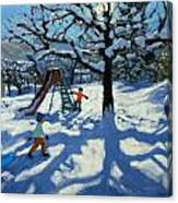 The Slide In Winter Canvas Print