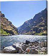 The Snake River In Hells Canyon Canvas Print