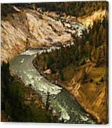 The Snaking Yellowstone Canvas Print