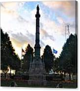 The Soldiers And Sailors Monument In Lafayette Square  Canvas Print