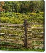 The Split Rail Meadow Canvas Print