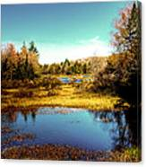 The Still Of Autumn In The Adirondacks Canvas Print