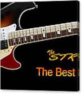 The Strat Les Guitar Canvas Print