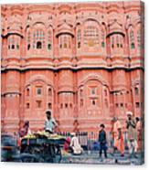 Street Life Of India Canvas Print