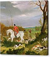 The Suffolk Hunt - Going To Cover Near Herringswell Canvas Print