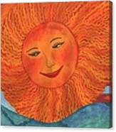 The Sun God Detail Of Red Sky At Night Canvas Print
