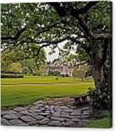 The Sundial Terrace, Glin Castle, Co Canvas Print