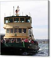 The Sydney Harbour Ferry Supply Canvas Print
