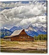The T. A. Moulton Barn In Grand Teton National Park Canvas Print