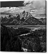 The Tetons - Il Bw Canvas Print