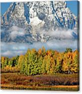 The Tetons In Autumn Canvas Print