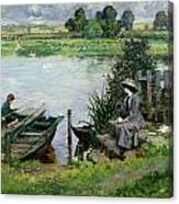The Thames At Benson Canvas Print