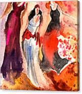 The Three Muses From Paphos Canvas Print