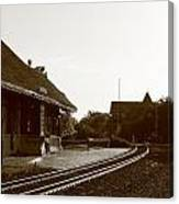 The Train Depot Canvas Print
