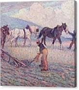 The Turn - Rice Plough Canvas Print