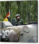The Turret Of The Leopard 1a5 Mbt Canvas Print