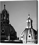 The Twin Domes Of S. Maria Di Loreto And Ss. Nome Di Maria Canvas Print